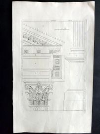 Palladio 1742 Architectural Print. Column Profile 82